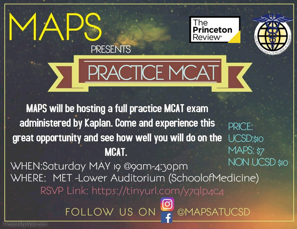 Princeton Review: Full Practice MCAT (May 19th) - MAPS at UCSD